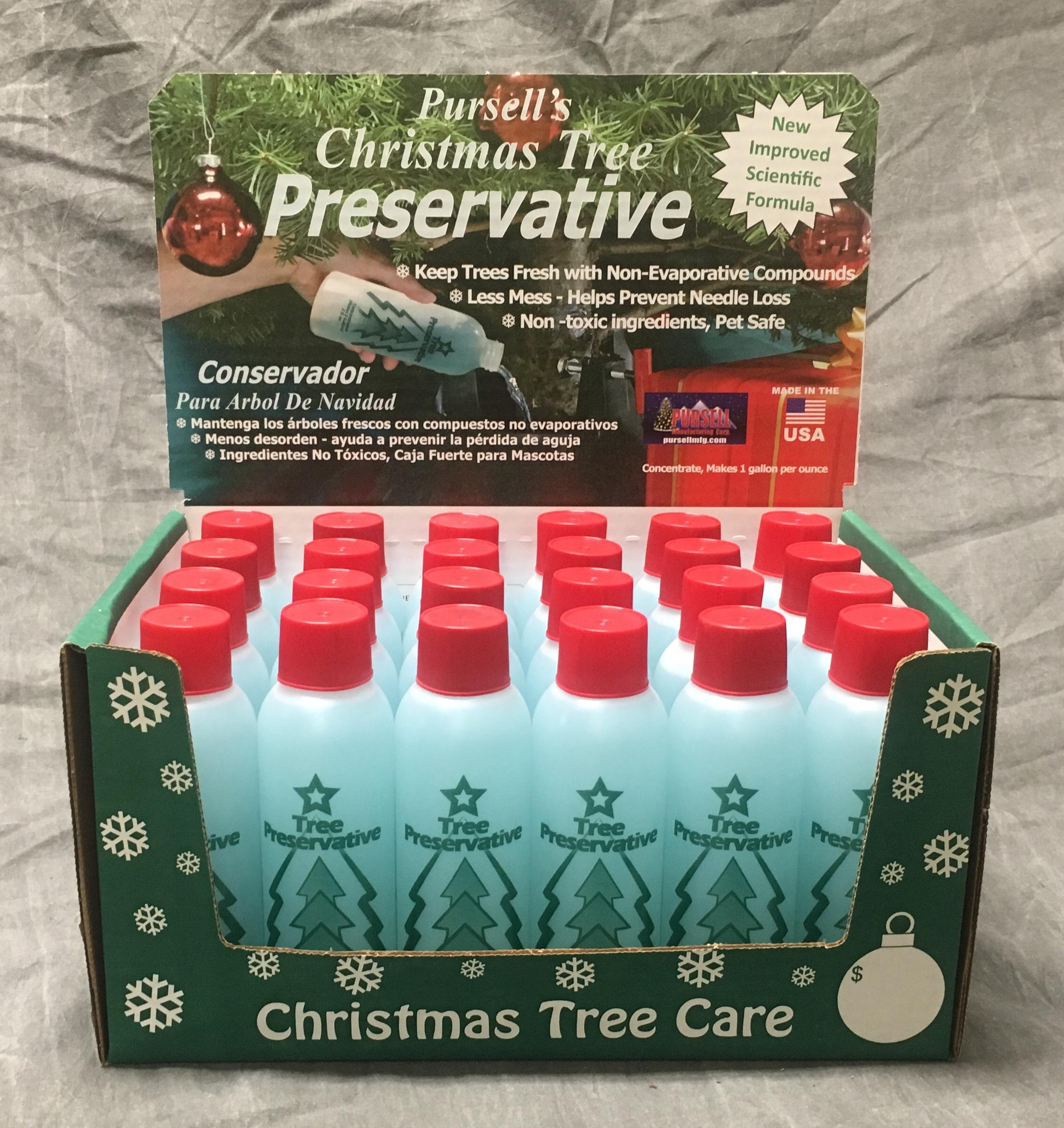 Christmas Tree Preservative.Tree Preservative 8oz 24 Pk