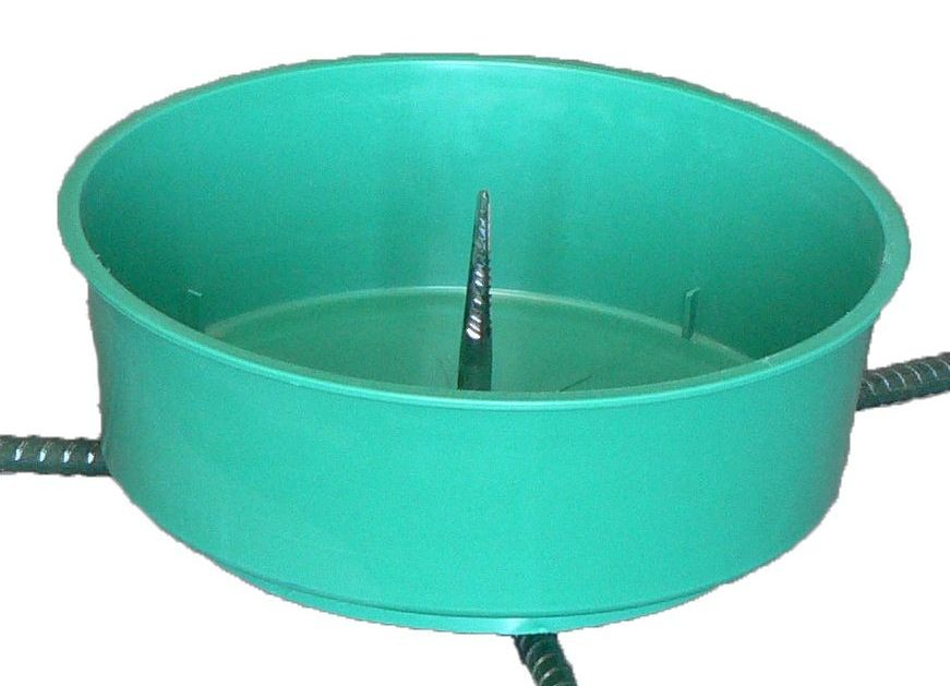 Rebar Large 2.5 Gallon, Water Bowl With Grommet, For 9/16
